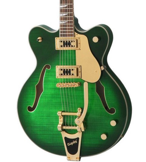 Eastwood Airline Classic 6 Deluxe Semi Hollow Guitar w/ Bigsby Greenburst
