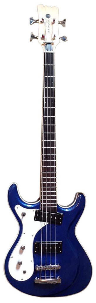Eastwood Sidejack Bass 32 - Metallic Blue Left Handed