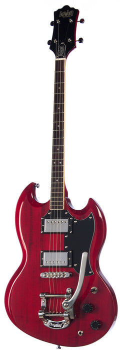 Eastwood Astrojet Deluxe Tenor Guitar - Cherry