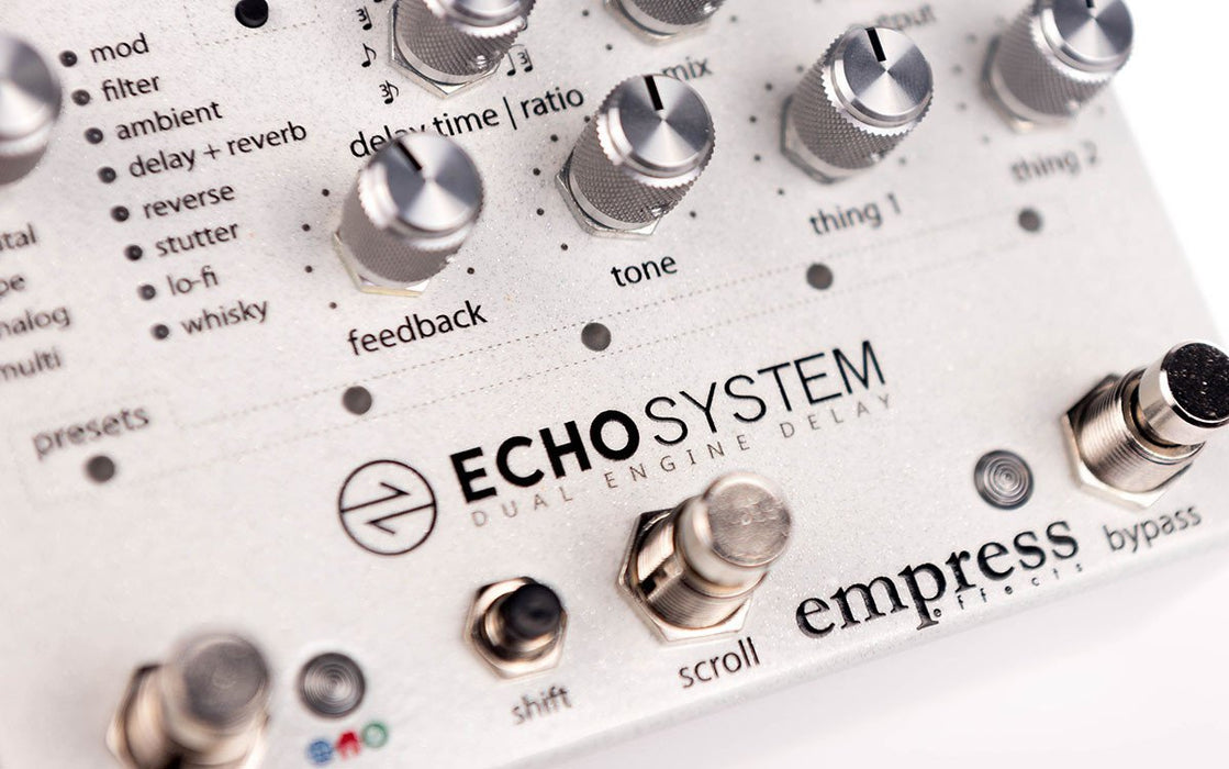 Empress Effects Echosystem Dual Engine Delay Guitar Effect Pedal