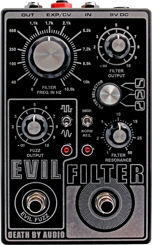 Death By Audio Evil Filter Octave Filter And Fuzz Guitar Pedal