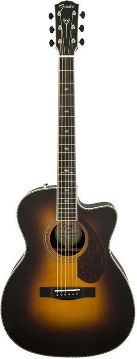 DISC - Fender PM-3 Deluxe Triple 0 SIze Paramount Series Acoustic/Electric Guitar Sunburst