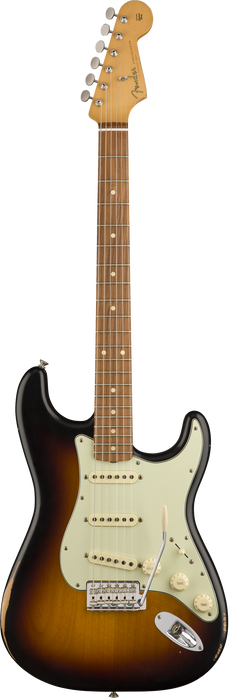 Fender Road Worn '60s Stratocaster Pau Ferro Fingerboard 3-Color Sunburst With Bag