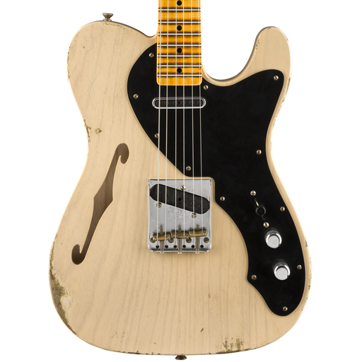 Fender Custom Shop Limited Edition Loaded Thinline Nocaster Relic Aged Dirty White Blonde With Case