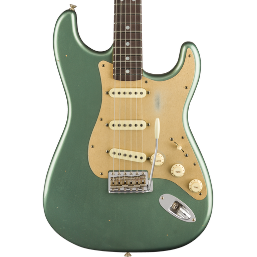 Fender Custom Shop Limited Edition Big Head Stratocaster Journeyman Relic Aged Sherwood Green Metallic With Case