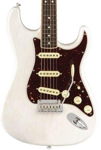 Fender Limited Edition American Professional Stratocaster Channel Bound Rosewood - White Blonde Guitar With Case