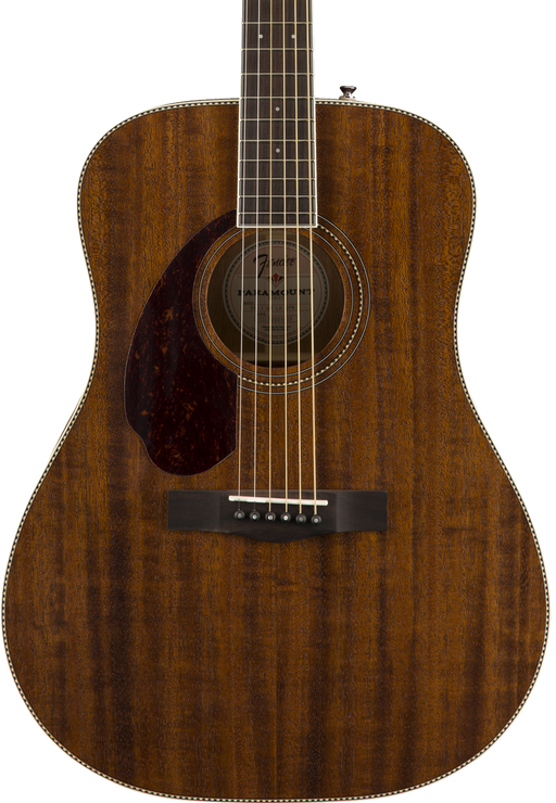 Fender PM-1 Dreadnought All Mahogany Left-Handed - Natural with Case