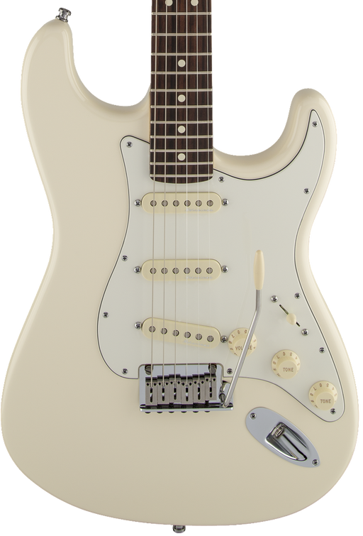 Fender Jeff Beck Stratocaster Rosewood Fingerboard - Olympic White