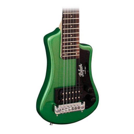 Hofner Shorty Travel Guitar Cadillac Green With Gig Bag