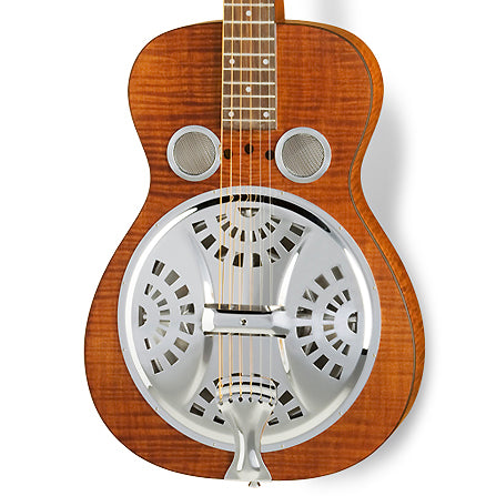 Dobro Hound Dog Deluxe Square Neck Acoustic Resonator Guitar - Vintage Brown
