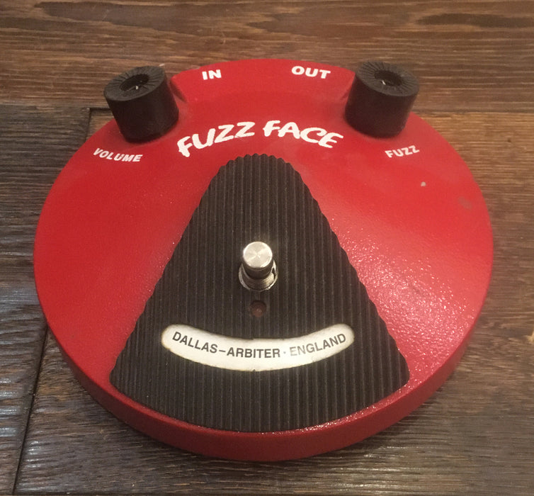 Vintage Dallas Arbiter Fuzz Face Pedal Owned By Rich Robinson Black The Crowes
