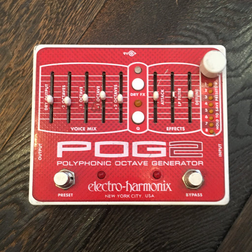 Used Electro-Harmonix POG 2 Polyphonic Octave Generator Guitar Effect Pedal With Box