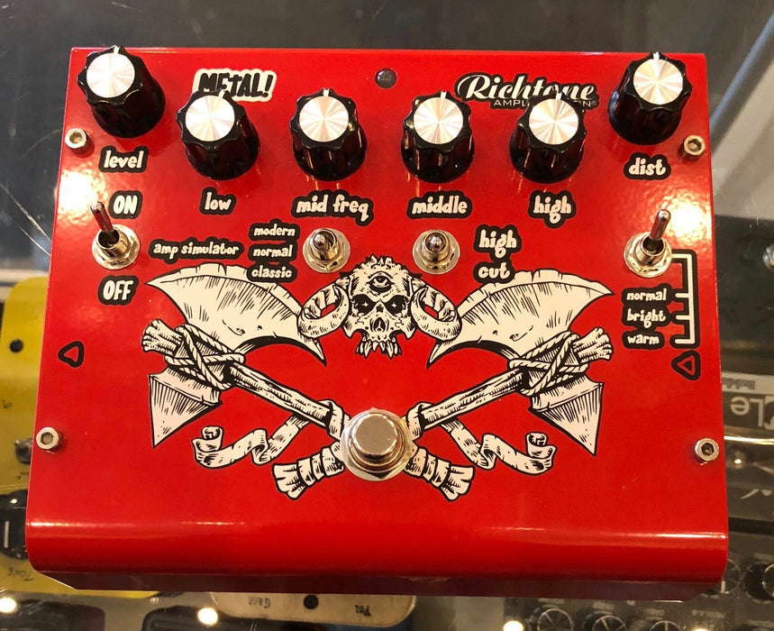 Used Richtone Metal Distortion Guitar Effect Pedal