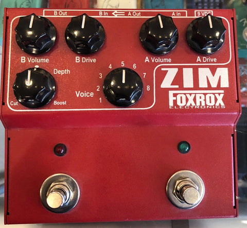 Used Foxrox Electronics Zim Overdrive Guitar Effect Pedal