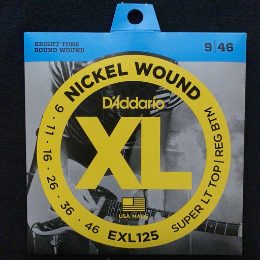 D'Addario EXL125 Set Electric Guitar XL Super Light/Regular Strings