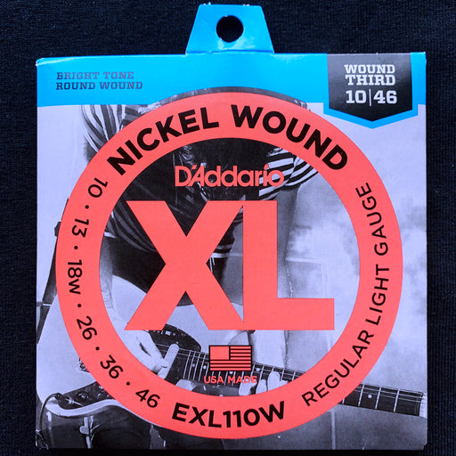 D'Addario EXL110W Set Guitar XL Regular Light Wound 3rd Strings