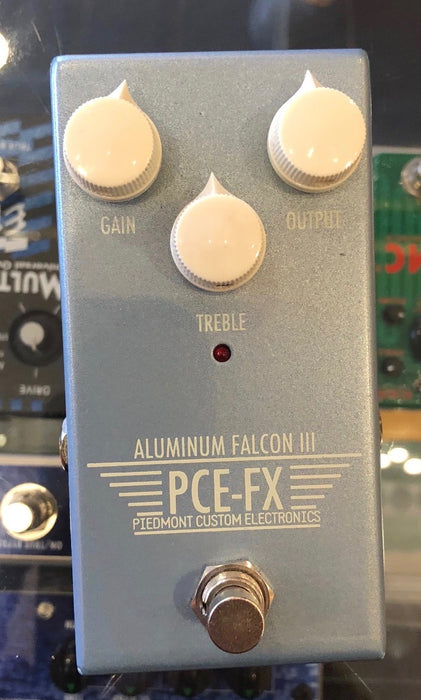 Used Piedmont Custom Effects PCE-FX Aluminum Falcon III Overdrive Guitar Effect Pedal