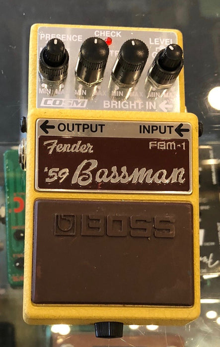 Used Boss Fender FBM-1 '59 Bassman Guitar Effect Pedal