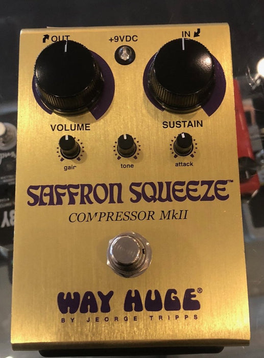 Used Way Huge Saffron Squeeze WHE103 Guitar Effect Pedal