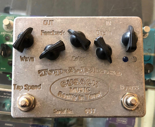 Used Cusack Tap A Phase Phaser Guitar Effect Pedal