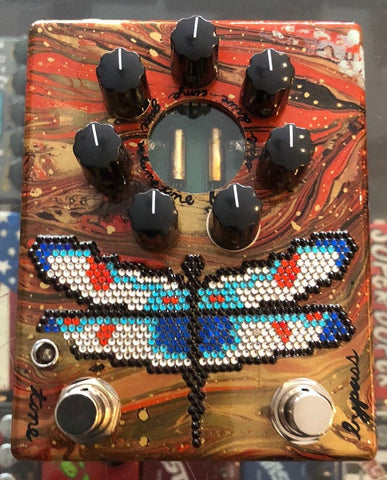 Zvex USA Made Handpainted Fuzz Factory 7 Fuzz Guitar Pedal NAMM 1/1 Dragonfly