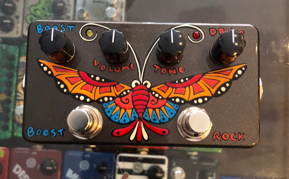 Zvex USA Made Handpainted 59 Sound Overdrive Guitar Pedal NAMM 1/1 Butterfly