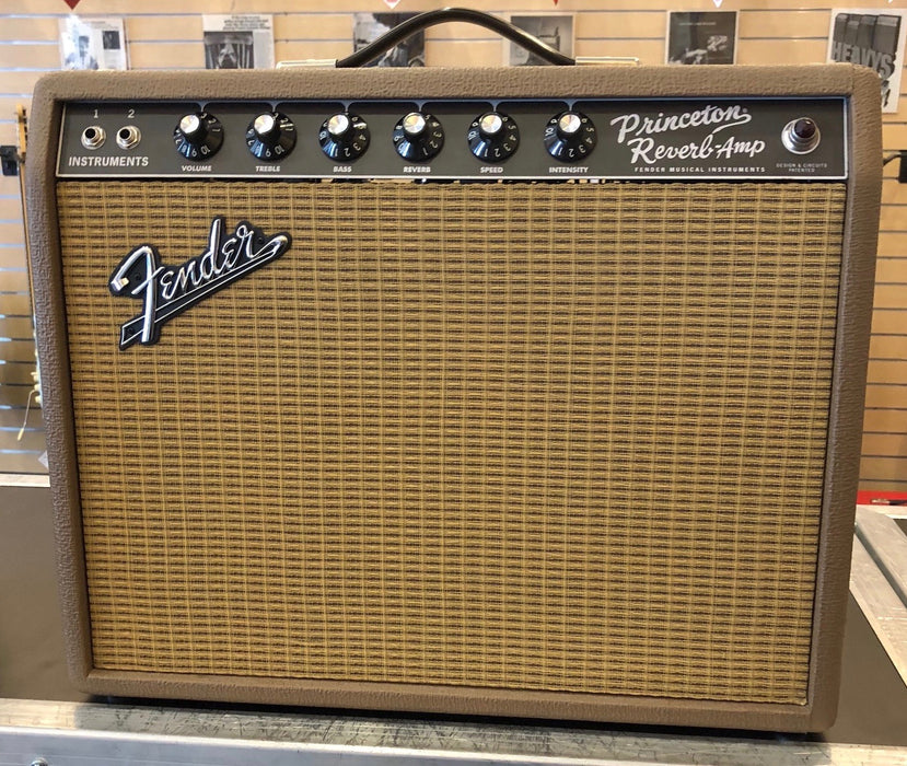 Used Fender Limited Edition '65 Princeton Reissue Fudge Brownie Tube Combo Amplifier With Footswitch