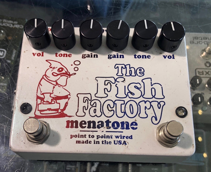 Used '04 Menatone Fish Factory Point to Point Overdrive Guitar Effect Pedal