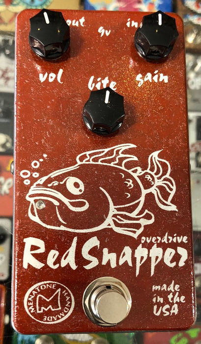 Menatone Three Knob Red Snapper Overdrive Guitar Pedal Fat Fish