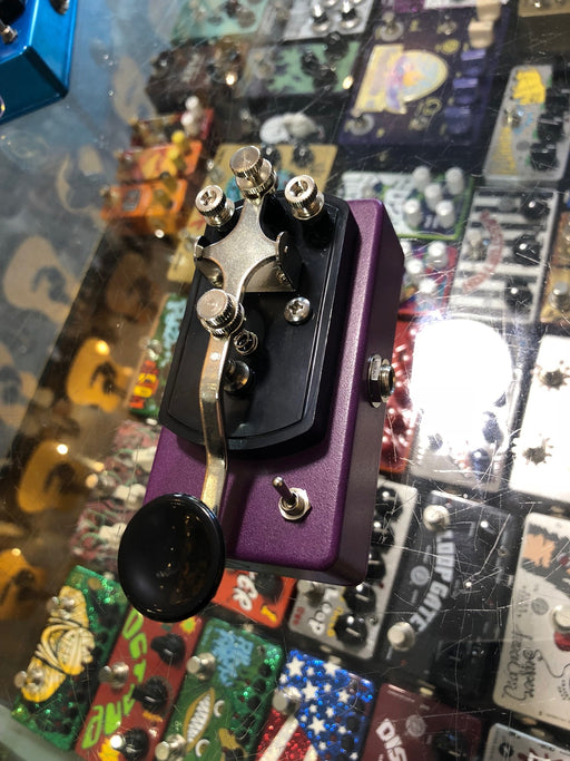 Coppersound Pedals Telegraph Stutter Momentary Silent Switch w/ Polarity Switch Guitar Pedal Plum