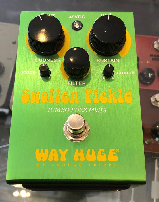 Used Way Huge Swollen Pickle Jumbo Fuzz Mk. IIS Guitar Effect Pedal With Box