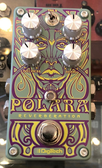 Used Digitech Polara Reverberation Reverb Guitar Effect Pedal with Box
