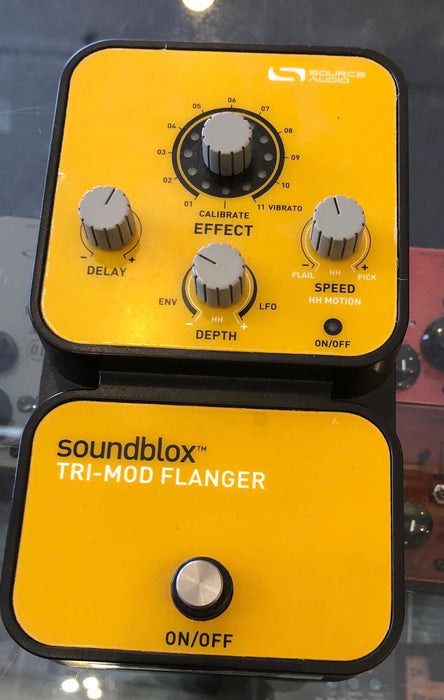 Used Source Audio Soundblox Tri-Mod Flanger Guitar Effect Pedal
