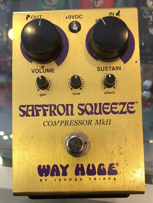 Used Way Huge Saffron Squeeze Compressor Guitar Effect Pedal