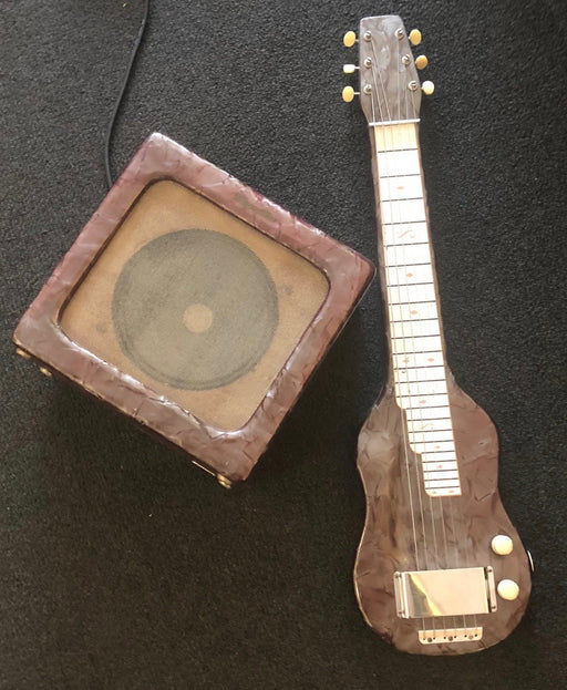 Vintage Magnatone Lap Steel and Matching Student Model M199-3-J Combo Guitar Amplifier