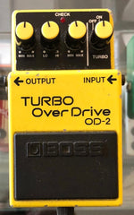 Used Boss OD-2 Turbo Overdrive Guitar Effect Pedal