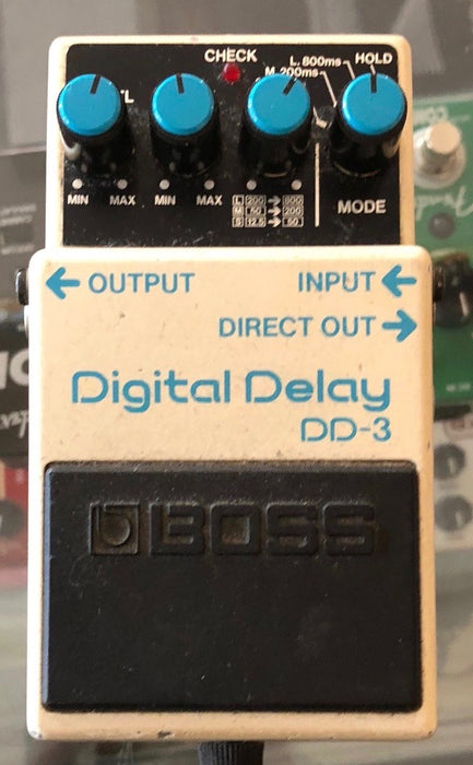 Used Boss DD-3 Digital Delay Guitar Effect Pedal