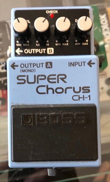 Used Boss CH-1 Super Chorus Guitar Effect Pedal