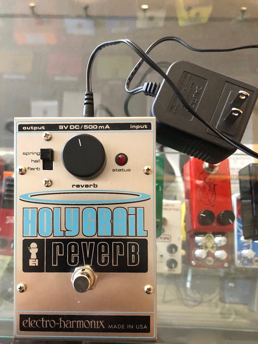 Used Electro Harmonix Holy Grail Reverb Guitar Effect Pedal with Power Supply