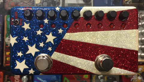 Zvex USA Made Hand Painted Ringtone Modulation Sequence Guitar Pedal USA Flag
