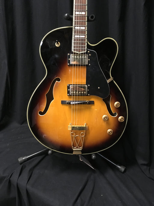 Used S101 Samick Archtop Sunburst Guitar With Case