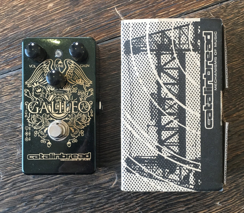Used Catalinbread Galileo Overdrive Guitar Effect Pedal With Box