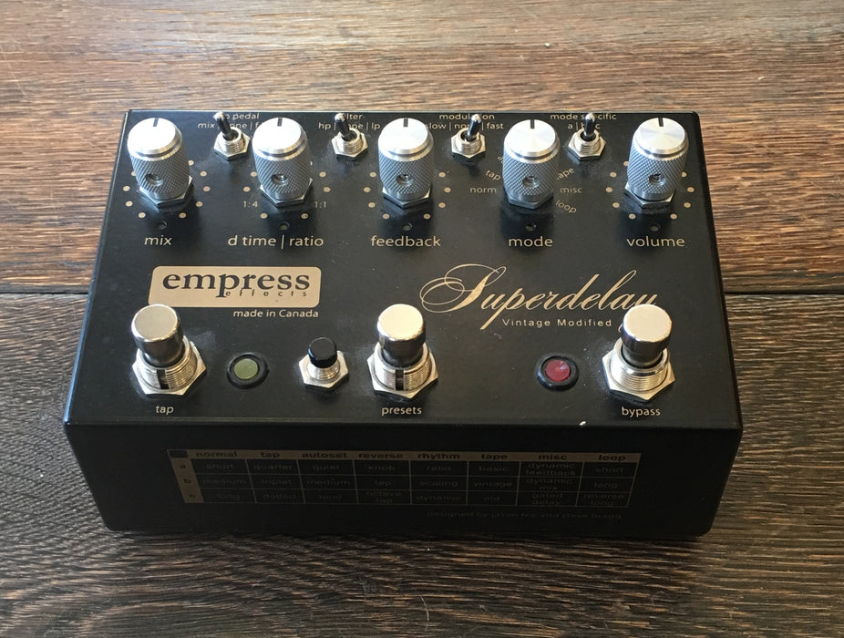 Used Empress Effects Super Delay Vintage Modified Delay Guitar Effect Pedal
