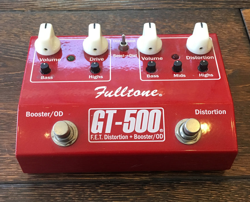 Used Fulltone GT500 Overdrive/Distortion Guitar Effect Pedal
