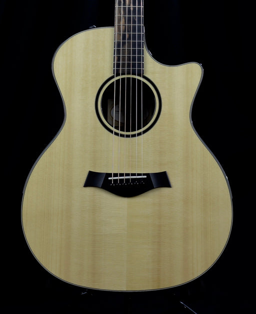 Pre Owned Taylor Custom GA Grand Auditorium Acoustic Electric Guitar Macassar Ebony Back & Sides Spruce Top OHSC
