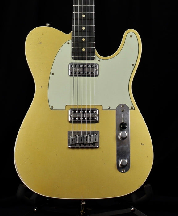 Pre Owned 2013 Fender Custom Shop Double TV Jones Relic Telecaster Gold To With OHSC & C of A