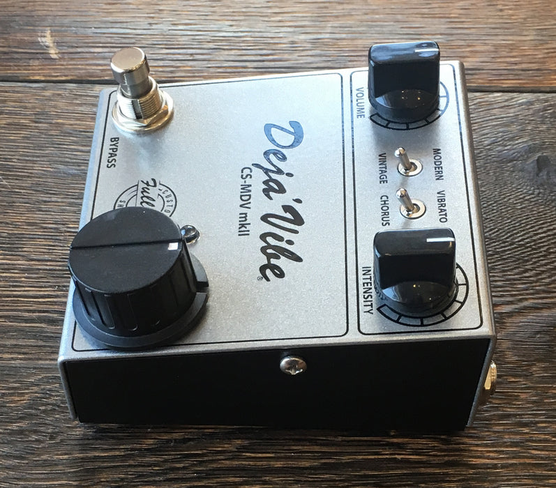 Used Fulltone Custom Shop Mini Deja Vibe Mk II Uni-Vibe Guitar Effect Pedal With Box and Adapter