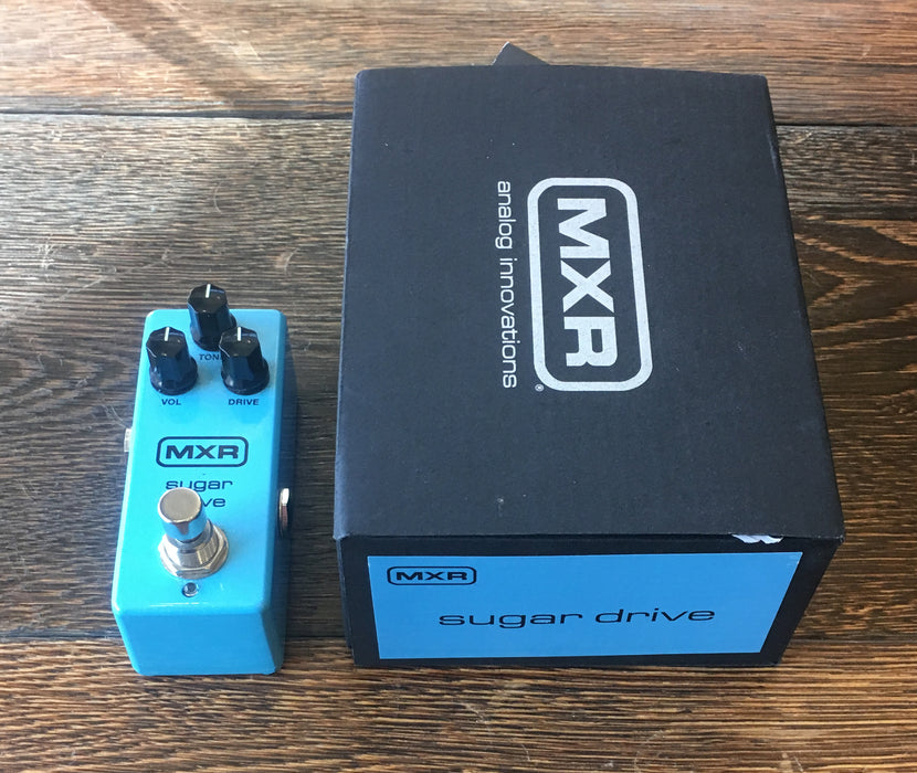 Used MXR Sugar Drive Overdrive Guitar Effect Pedal With Box