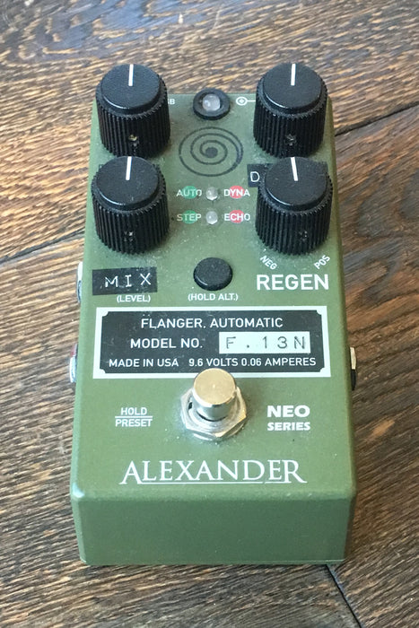 Used Alexander Flanger Guitar Effect Pedal With Box