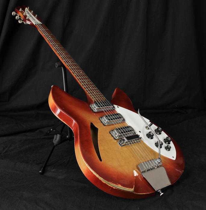 Vintage '66 Rickenbacker 345 Fireglo Semi Hollow Electric Guitar With OHSC